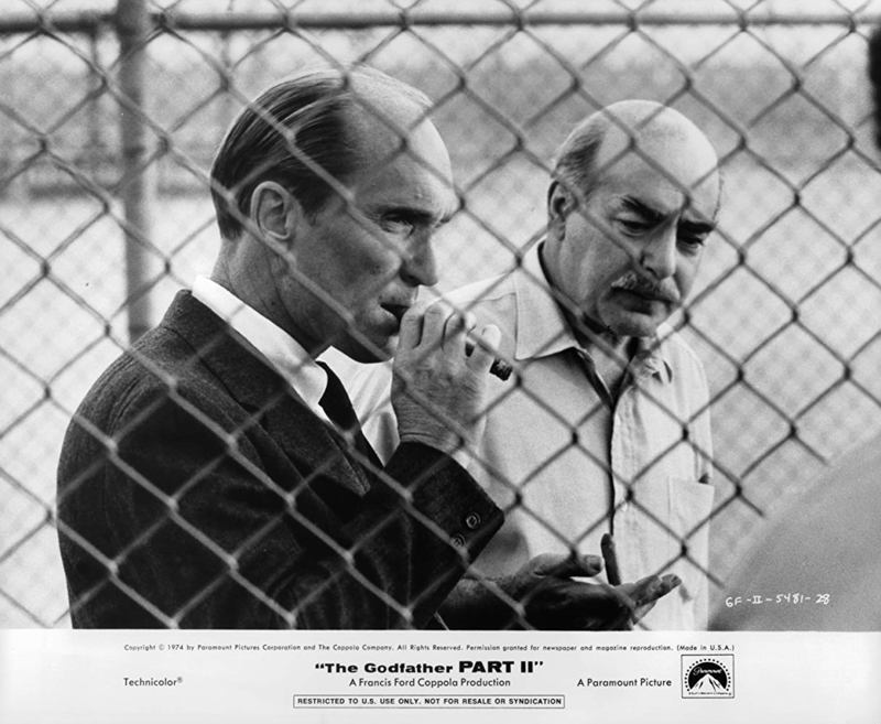 Robert Duvall and Michael V. Gazzo in The Godfather Part II 1974.jpg