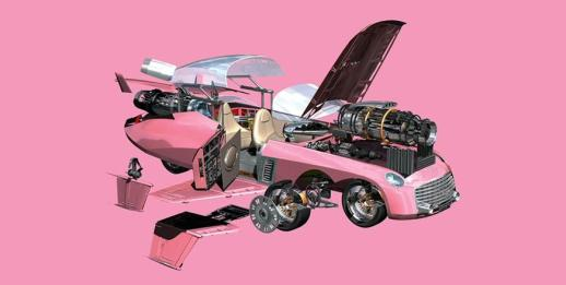 Carros Automoveis Ford Pink Car Ford Fab Thunderbirds Design Paulin