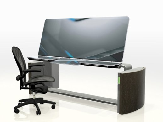 Tecnologia Touch-Screen Digital Mesa Trabalho Computador Response Desk Design Ergonomia