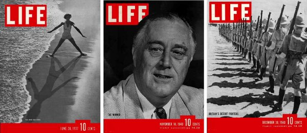 LIFE magazine covers