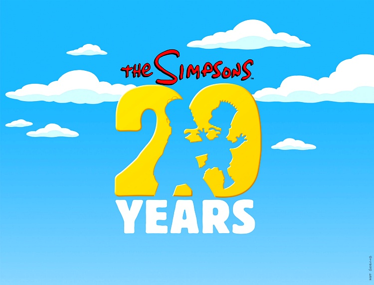 20 anos simpsons homer marge bart
