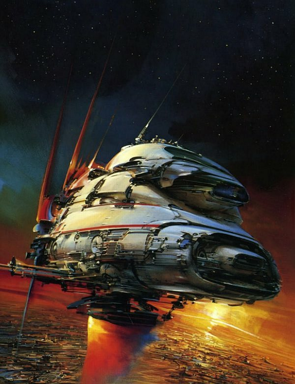 John Berkey scientific fiction illustration star wars