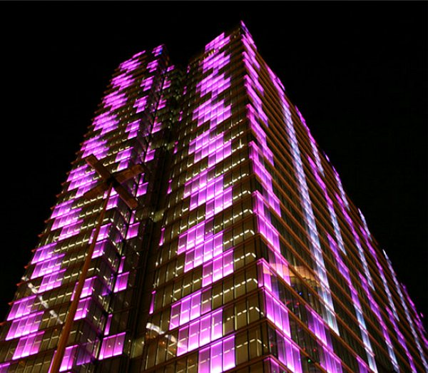 Dexia towers edifício leds