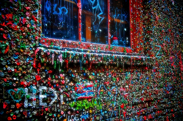 gum wall pastilha elastica parede seattle