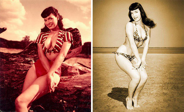 Bettie, burlesca, dançarina, modelo, Page, pin, up