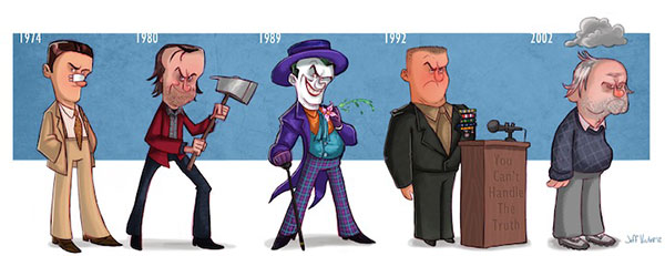 caricatura, cinema, Jeff, personagens, Victor
