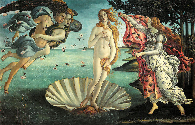 The birth of Venus Sandro Botticelli 1486