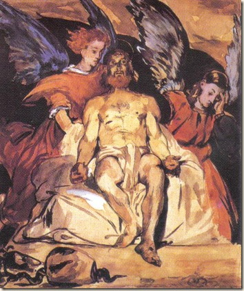 Obra de Edouard Manet - Christ withi Angels,  Musée d'Orsay, Paris