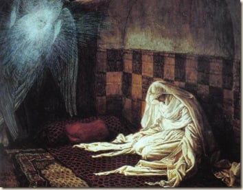 Obra de James Tissot - The Annunciation, The Brooklyn Museum
