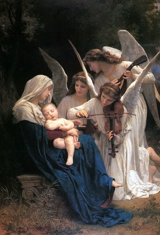 Song of the Angels (1881) William-Adolphe Bouguereau (1825-1905)