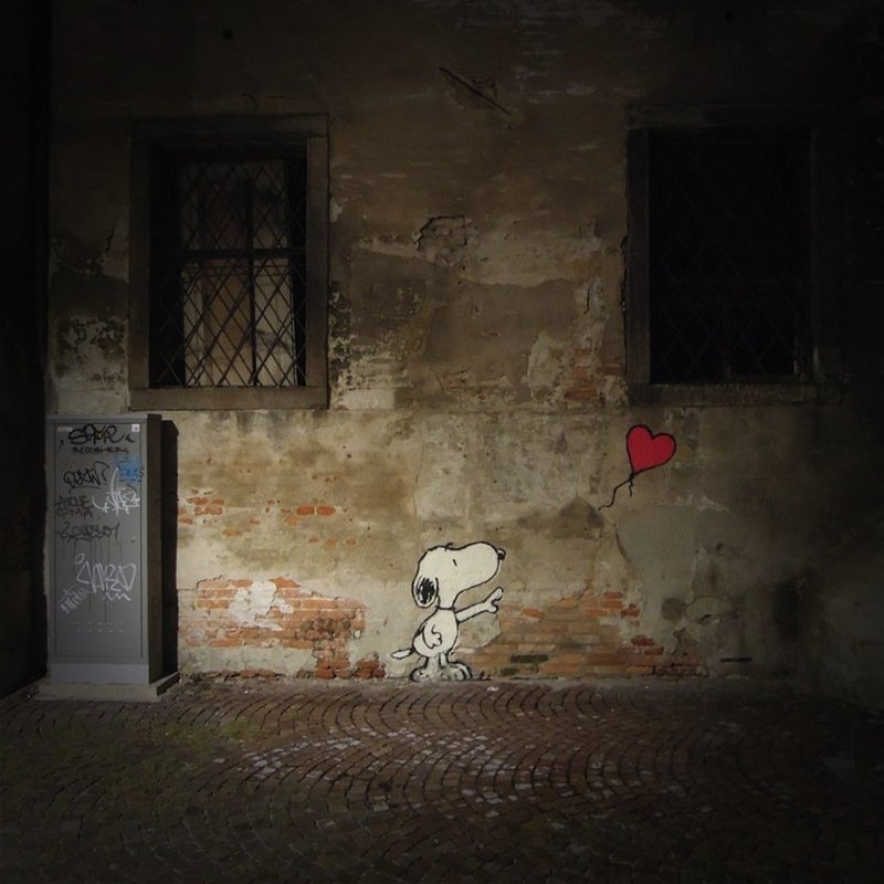 Street Art by Kenny Random Snoopy