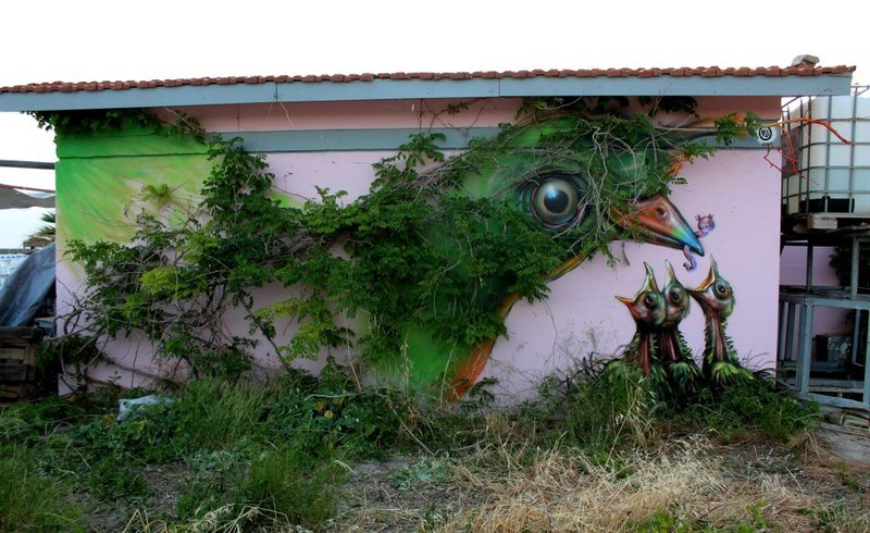 Street Art by Wild Drawing Atenas Grecia