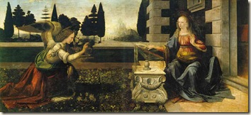 The Annunciation Leonardo Da Vinci