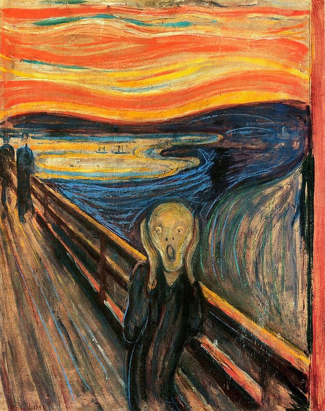 The Scream de Edvard Munch