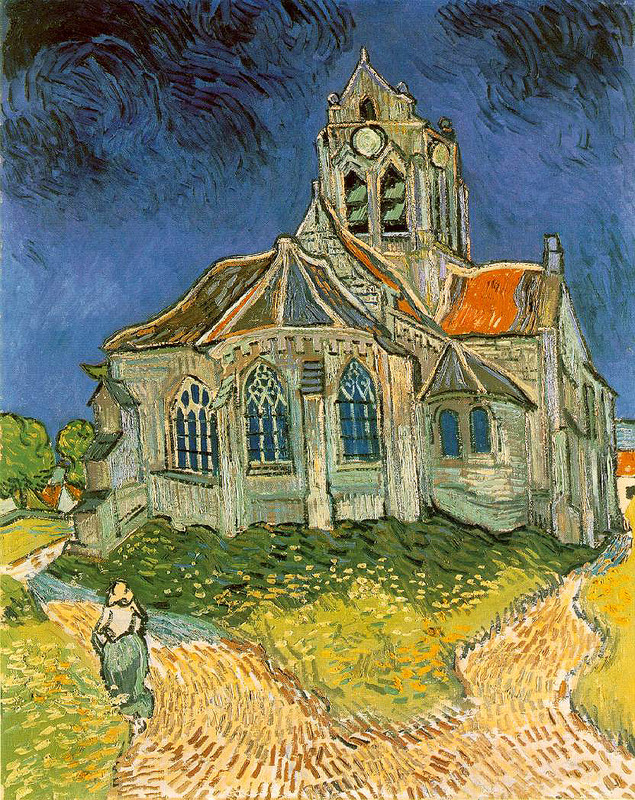 Church at Auvers 1890 Van Gogh