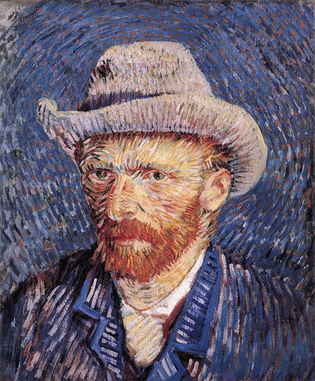 Self portrait with Felt Hat by Vincent van Gogh 1887