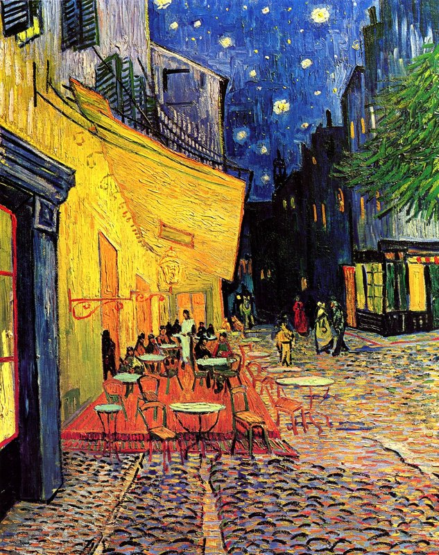 The Cafe Terrace  1888 Van Gogh