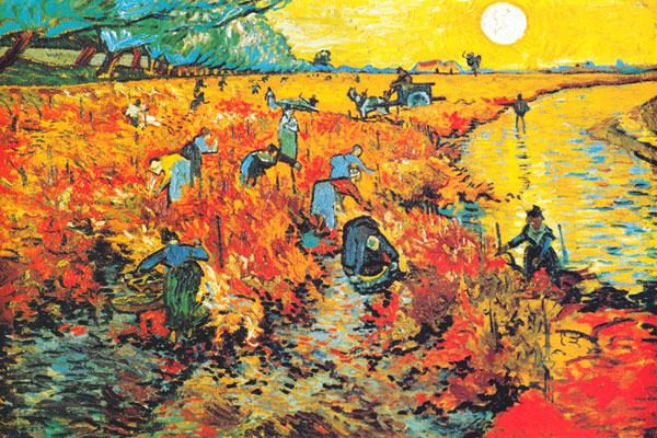 The Red Vineyard at Arles 1888 Van Gogh