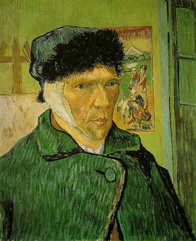Van Gogh self portrait with bandaged ear 1888