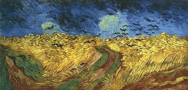 Wheatfield with Crows 1890 Van Gogh