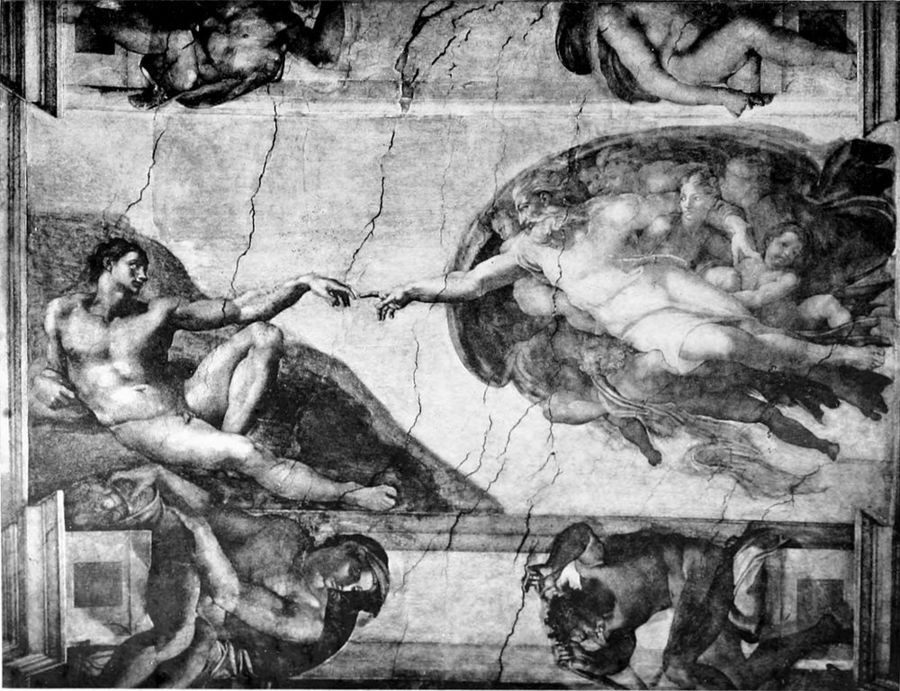 1000px-Life_of_Michael_Angelo,_1912_-_The_Creation_of_Man.jpg