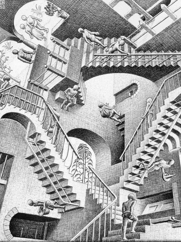 Relativity litografia do holandês Escher.jpg