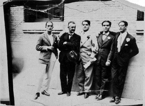 Madrid 1926 From left Salvador Dali, Moreno Villa, Bunuel, Garcia Lorca, and Jose Antonio Rubio Sacristan.jpg