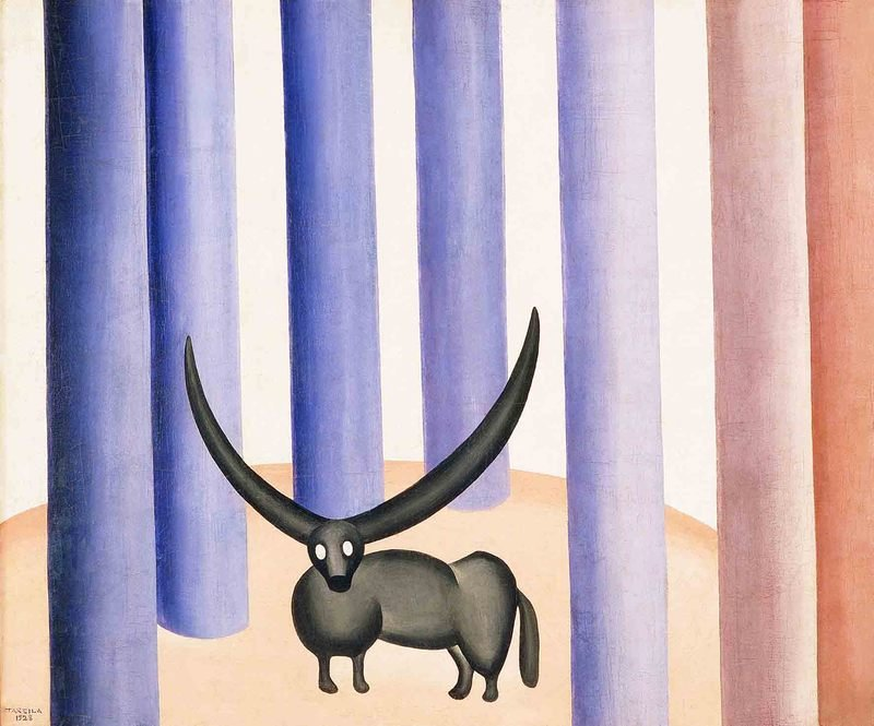 Boi na floresta 1928 Tarsila do Amaral