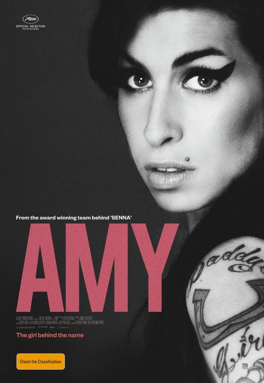 Cartaz do documentário sobre Amy Winehouse ganhador do Oscar
